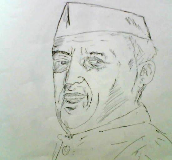 Jawaharlal Nehru by arun